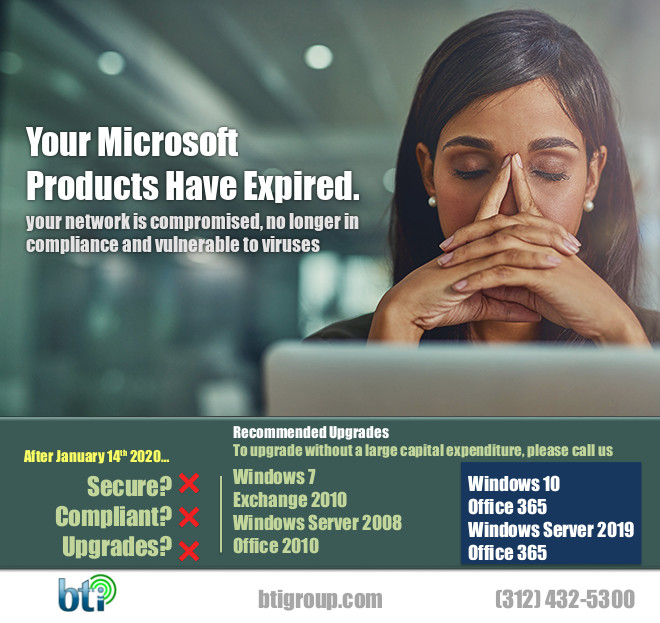 TAG Internal Email Marketing Windows 7 is dead campaign flyer Ad