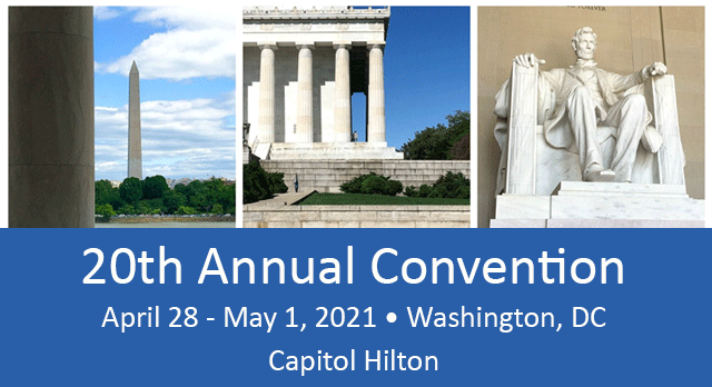 20th Annual TAG Convention, Apr 28 - May 1, 2021, Washington, DC
